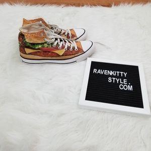 Converse Cheeseburger Hi Top Sneakers Size 11
